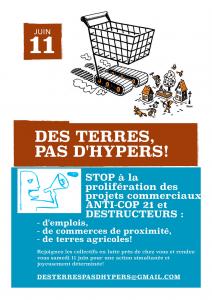 Affiche 11 juin des terres pas d'hyper